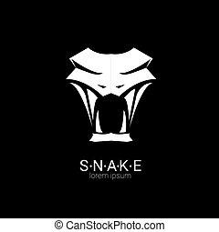 element., vektor, kígyó, tervezés, jel, egyszerű