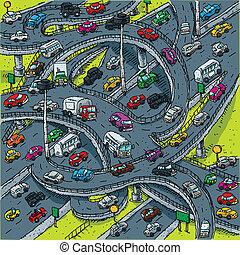 elfoglalt, metszőpont, autóút