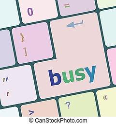 elfoglalt, számítógép, gombol, ábra, számítógép, vektor, kulcs, billentyűzet