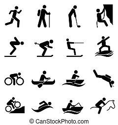 elfoglaltságok, külső, szabad, sport