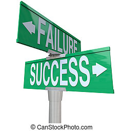 elhatároz, jó, siker, hegyezés, lény, kétvezetékes, sors, aláír, symbolizing, rossz, utca, zöld, balsiker, között, útkereszteződés, vagy, eredmény