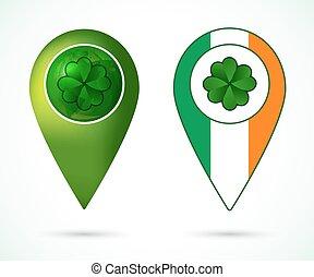 elhelyezés, írország, megjelöl