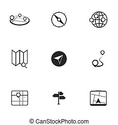 elhelyezés, ikonok, térkép