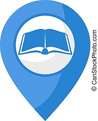 elhelyezés, könyvtár, ikon