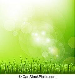 elhomályosít, háttér, fű, zöld
