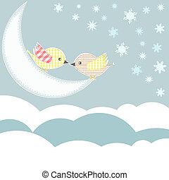 elhomályosul, ég, szeret madár, csókol