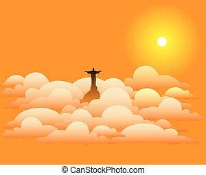 elhomályosul, krisztus, szobor, jézus