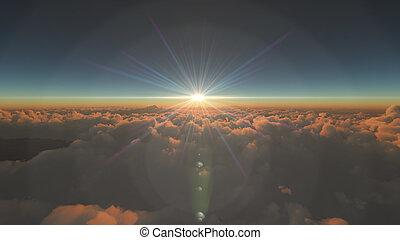 elhomályosul, napkelte, felül
