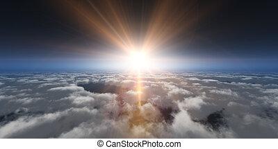 elhomályosul, napnyugta, felül