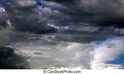 elhomályosul, viharos, múlás, idő, ultra, hd