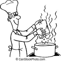 eljárás, főzés