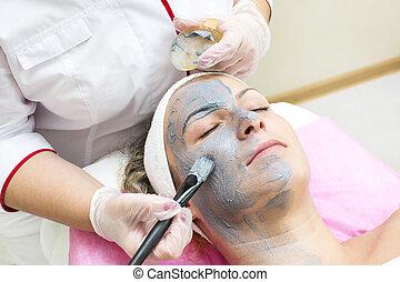 eljárás, fogadószoba, facials, masszázs, szépség