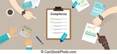 eljárás, iparág, standard, előírás, caompliance, társaság