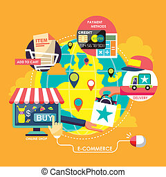 eljárás, lakás, e-commerce, tervezés, fogalom