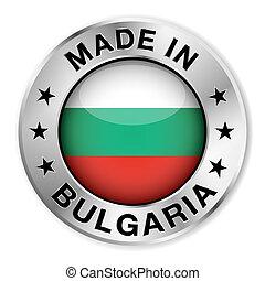 elkészített, jelvény, ezüst, bulgária