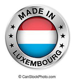 elkészített, jelvény, ezüst, luxemburg