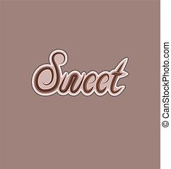 elkészített, szöveg, elem, tervezés, kellemes, csokoládé