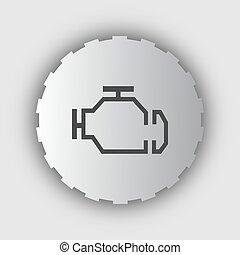ellenőriz, vektor, design., lakás, isolated., ábra, ikon, gép