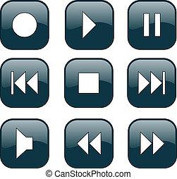 ellenőrzés, gombok, audio-video