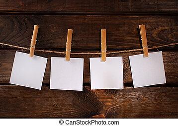 ellen, odaköt, dolgozat, háttér, fából való, kártya, tiszta, függő