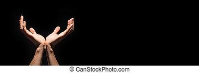 ellenvetés, ellen, feláll, kézbesít, fekete, vagy, ki, pálma, hiány