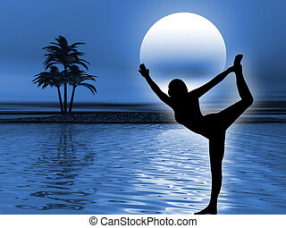 elmélkedés, jóga