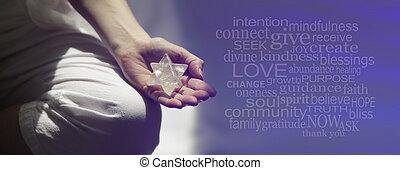 elmélkedés, szó, felhő, mindfulness