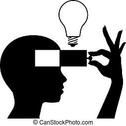 elme, gondolat, tanul, új, oktatás, nyílik