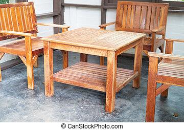 elnökké választ, üres, erdő, asztal