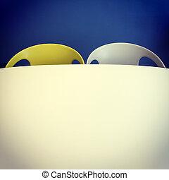 elnökké választ, asztal, mód, retro