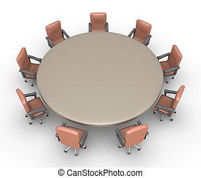 elnökké választ, hajlandó, gyűlés, mindenfelé, asztal