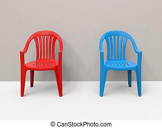 elnökké választ, kék, piros, műanyag, lejtő