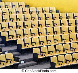 elnökké választ, konferencia előszoba, sárga
