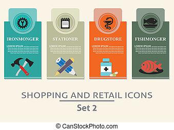 elnevezés, bevásárlás, kiskereskedelem