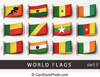 elnevezés, minden, állhatatos, lobogó, országok