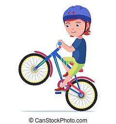elnyomott bicikli, fiú