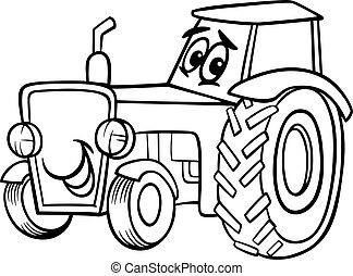 elpirul beír, karikatúra, traktor