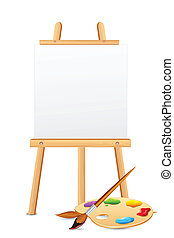 elpirul paletta, festőállvány