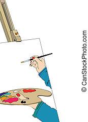 elpirul paletta, szobafestő