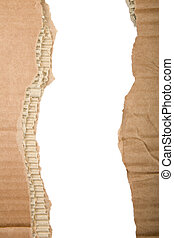 elszakadt, kartonpapír