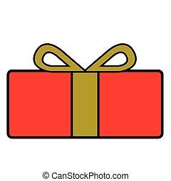 elszigetelt, ajándék, karácsony