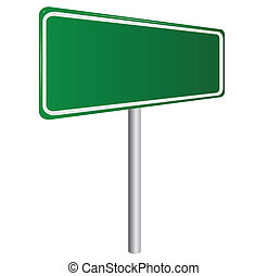 elszigetelt, aláír, zöld, tiszta, fehér, út