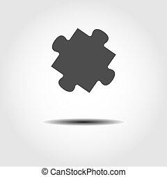 elszigetelt, egyszerű, háttér, tervezés, fehér, rejtvény, vektor, részvény, icon.