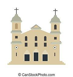 elszigetelt, hagyományos, templom