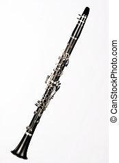elszigetelt, klarinét, fehér, befejez