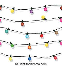 elszigetelt, vonósok láng, white christmas, seamless