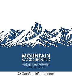 elszigetelt, white háttér, lőtávolság, hegy