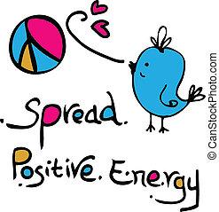 elterjed, pozitív, energia