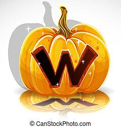 elvág, mindenszentek napjának előestéje, pumpkin., nyugat, betűtípus, ki