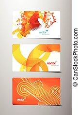 elvont, állhatatos, tehetség, színes, kártya.